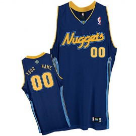 Denver Nuggets Custom Authentic Style Cassic Road Jersey Blue