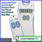 Denver Nuggets Custom Authentic Style Classic Home White Jersey