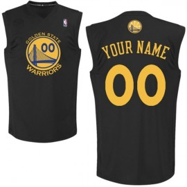 Golden State Warriors Fashion Custom Authentic Style Black Jersey