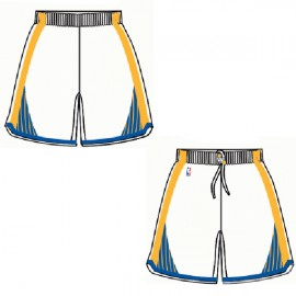 Mens Golden State Warriors Home White Authentic Style On-Court Shorts