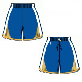 Mens Golden State Warriors Road Blue Authentic Style On-Court Shorts