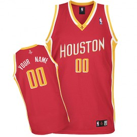 Houston Rockets Custom Authentic Style Alternate Jersey Red