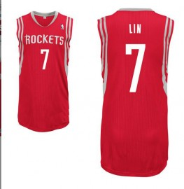 Jeremy Lin #7 Houston Rockets Authentic Style Away Red Jersey