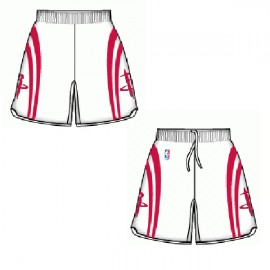 Mens Houston Rockets  Home White Authentic Style On-Court Shorts