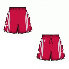 Mens Houston Rockets Road Red  Authentic Style On-Court Shorts