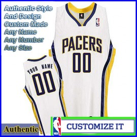 Indiana Pacers Custom Authentic Style Home Jersey White