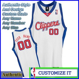 Los Angeles Clippers  White Authentic Style Home Jersey