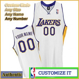 Los Angeles Lakers Custom Authentic Style Alternate Jersey White