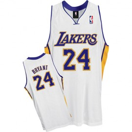 LA Lakers Authentic Alternate Style Jersey White #24 Kobe Bryant