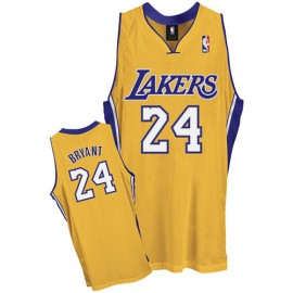 LA Lakers Authentic Style Home Jersey Gold #24 Kobe Bryant