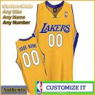 Los Angeles Lakers Custom Authentic Style Home Jersey Gold