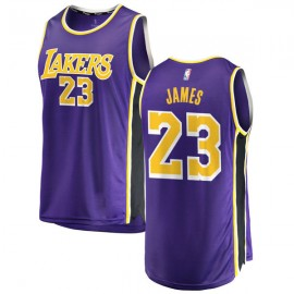 LeBron James #23 Los Angeles Lakers Authentic Style Purple Jersey