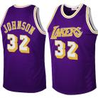 LA Lakers Throwback Authentic Style Jersey Purple #32 Magic Johnson