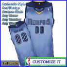 Memphis Grizzlies Custom Authentic Style Alternate Jersey Powder Blue