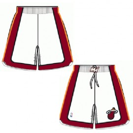 Mens Miami Heat Home White Authentic Style On-Court Shorts