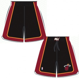 Mens Miami Heat Road Black Authentic Style On-Court Shorts