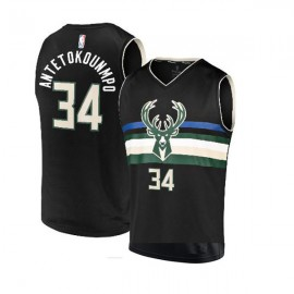 Milwaukee Bucks Custom Authentic Style Alternate Black Jersey