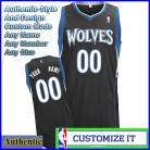 Minnesota Timberwolves Authentic Style Alt NBA Basketball Jersey Black