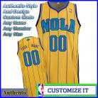New Orleans Hornets Authentic Style Alt NBA Basketball Jersey Gold