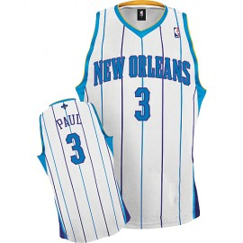 New Orleans Hornets Authentic Style Home Jersey White #3 Chris Paul