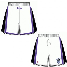 Mens Sacamento Kings Home White Authentic Style On-Court Shorts