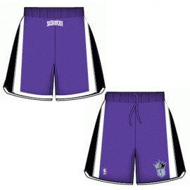 Mens Sacamento Kings Road Purple Authentic Style On-Court Shorts