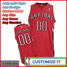 Toronto Raptors Custom Authentic Style Road Jersey Red
