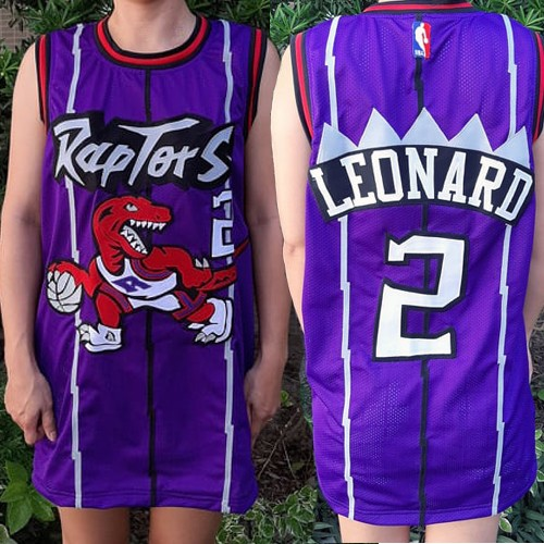 more photos c698d 23f04 Toronto Raptors Custom Authentic Style Throwback Purple Jersey