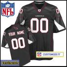 Arizona Cardinals RBK Style Authentic Alt Black Jersey (Pick A Player)