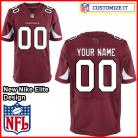 Arizona Cardinals Nike Elite Style Team Color Red Jersey (Pick A Name)