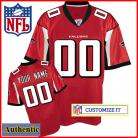 Atlanta Falcons RBK Style  Authentic Home Red Youth Jersey