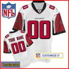 Atlanta Falcons RBK Style  Authentic White Jersey (Pick A Player)