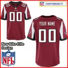 Atlanta Falcons Nike Elite Style Team Color Red Jersey (Pick A Name)