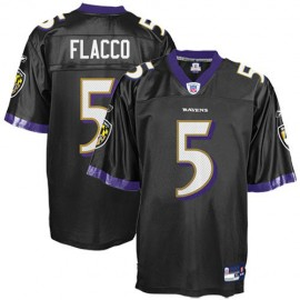Baltimore Ravens NFL Black Alt Football Jersey #5 Joe Flacco