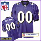 Baltimore Ravens RBK Style Authentic Home Purple Jersey (Pick A Player)