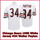 Chicago Bears Authentic Style Throwback White Jersey #34 Walter Payton