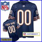 Chicago Bears RBK Style Authentic Home Blue Jersey (Pick A Player)