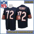Chicago Bears Authentic Style Throwback Navy Jersey #72 William Perry