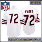 Chicago Bears Authentic Style Throwback White Jersey #72 William Perry