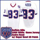 Buffalo Bills 1990 NFL White Jersey #83 Andre Reed w/ Super Bowl Champion Patch