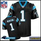 Carolina Panthers NFL Authentic Black Football Jersey #1 Cam Newton