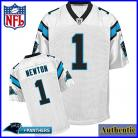 Carolina Panthers NFL Authentic White Football Jersey #1 Cam Newton