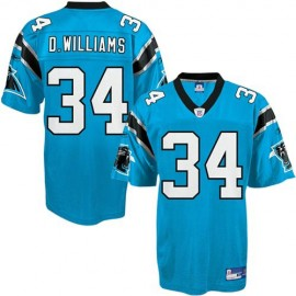 Carolina Panthers NFL Light Blue Football Jersey #34 DeAngelo Williams