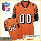 Cincinnati Bengals RBK Style Authentic Alternate Orange Jersey (Pick A Player)