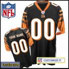 Cincinnati Bengals RBK Style Authentic Home Black Jersey (Pick A Player)