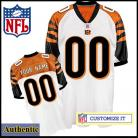 Cincinnati Bengals RBK Style Authentic White Jersey (Pick A Player)