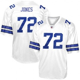 Dallas Cowboys NFL Legends White  Football Jersey  #72 Ed ''Too Tall'' Jones