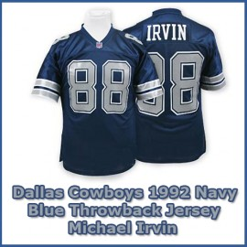 Dallas Cowboys 1992 NFL Navy Blue Jersey #88 Michael Irvin