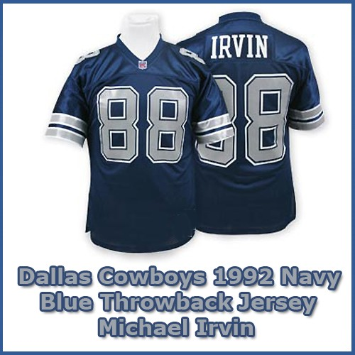 size 40 beed1 cb381 Dallas Cowboys 1992 NFL Navy Blue Jersey #88 Michael Irvin