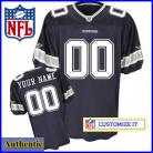 Dallas Cowboys RBK Style  Authentic Home Navy Jersey (Pick A Player)